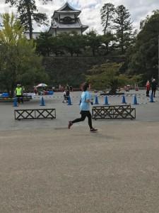 金沢城の前を通過🏯